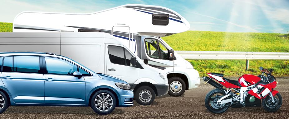 ADAC Autovermietung Mietwagen Transporter Wohnmobil Wohnwagen Motorrad