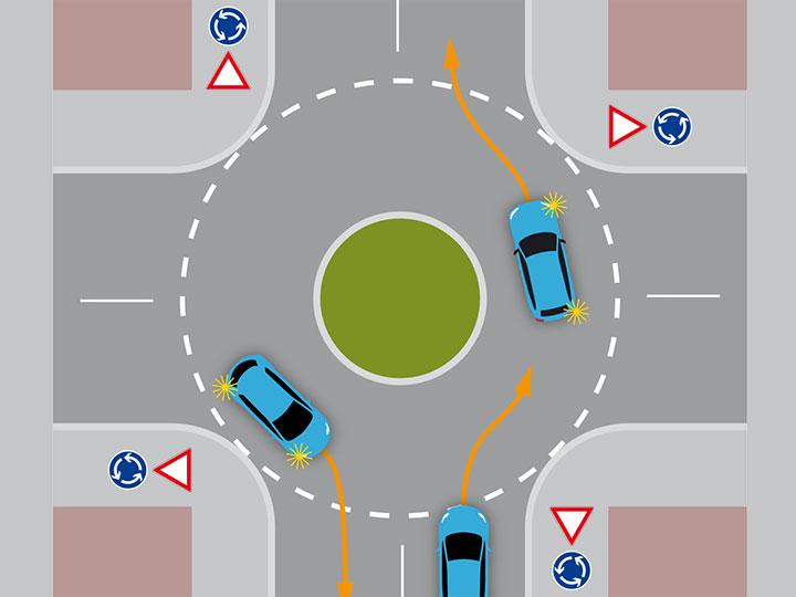 Ausfahren aus kreisverkehr