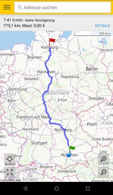 ADAC Maps-App on