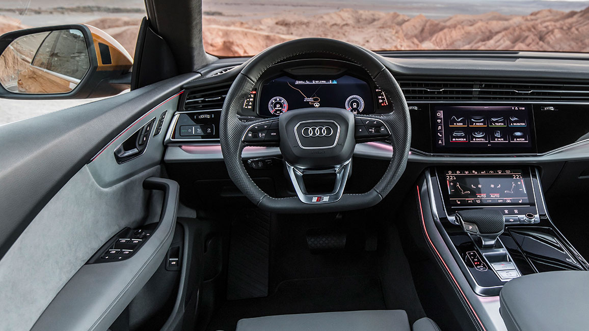 audi q8 testfahrt im suv coup adac 2018. Black Bedroom Furniture Sets. Home Design Ideas