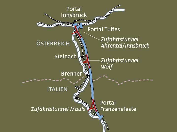 Sudtirol Karte Osterreich Italien.Brenner Basistunnel So Weit Ist Das Rekordbauwerk I Adac