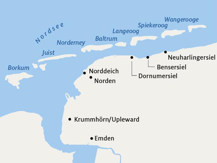 Juist Karte.Norderney Borkum Langeoog Co Die Perfekte Insel Für Sie Adac