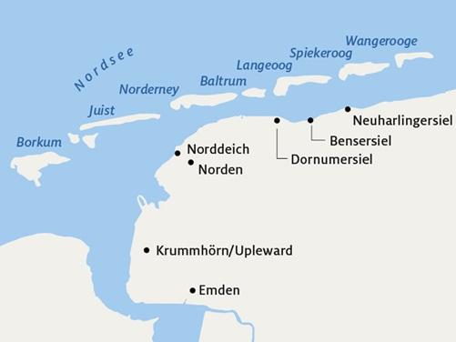 Nordfriesische Inseln Karte.Norderney Borkum Langeoog Co Die Perfekte Insel Fur