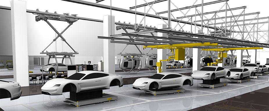 Porsche,Werk Zuffenhausen Hier entsteht der Taycan