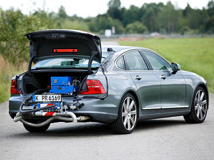 RDE Messung an Volvo S90