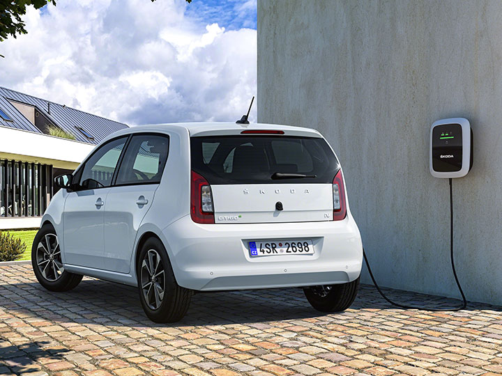 Der Skoda Citigo 2019 an der home Ladestation charger