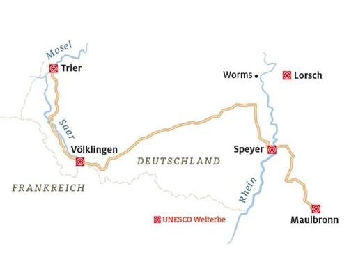 Unesco Welterbe Route Von Der Mosel Bis Maulbronn Adac Motorwelt