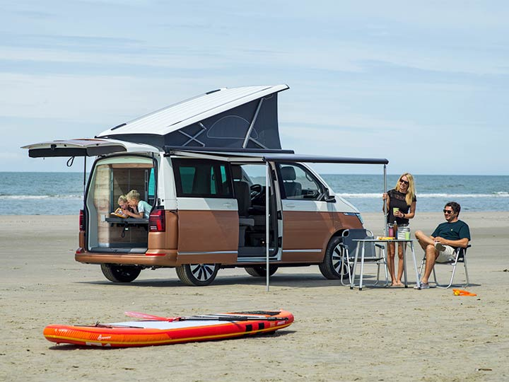 VW California am Strand