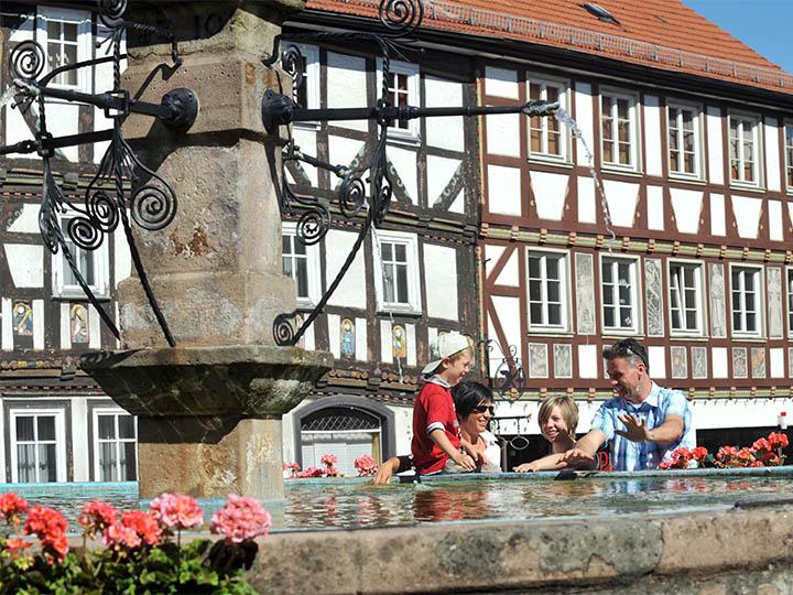 Brunnen in der Mittelalterstadt Tann