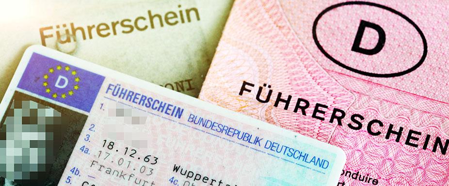 Führerschein alt neu Karte Scheckkarte EU 2033