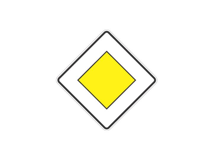 Verkehrszeichen: Vorfahrtsstraße