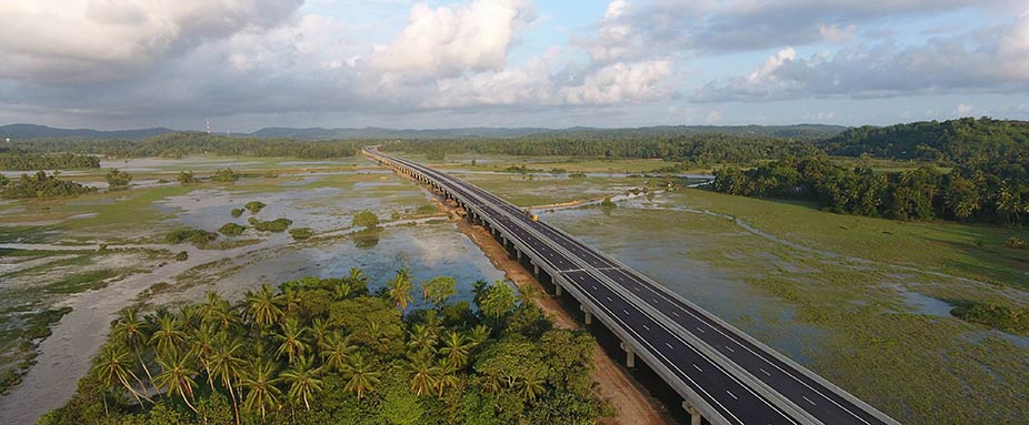 Neuer Express Highway in Sri Lanka