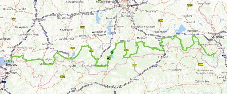 deutsche alpenstraße motorrad karte Deutsche Alpenstraße