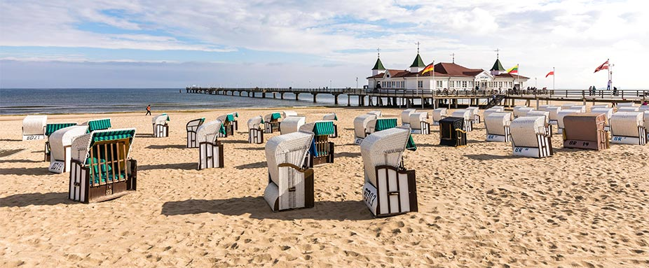 Strand in Ahlbeck auf Usedom