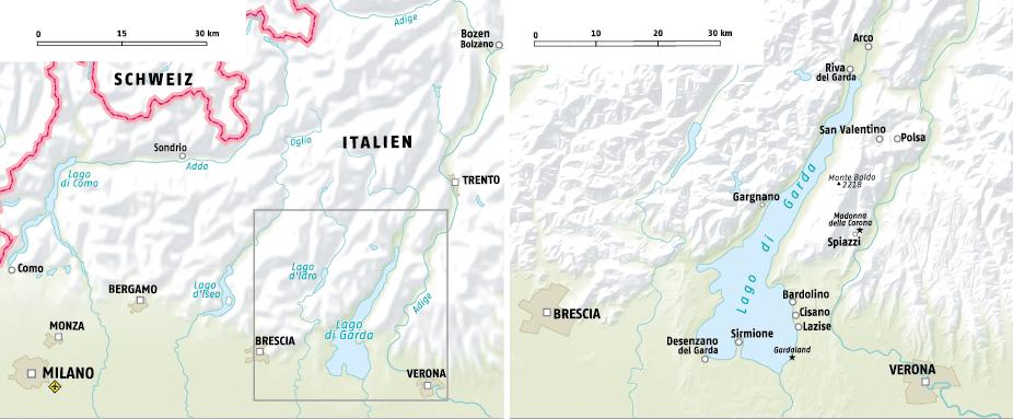Karte Gardasee Lazise.Gardasee Im Winter Adac