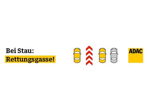Rettungsgasse Aufkleber Gratis